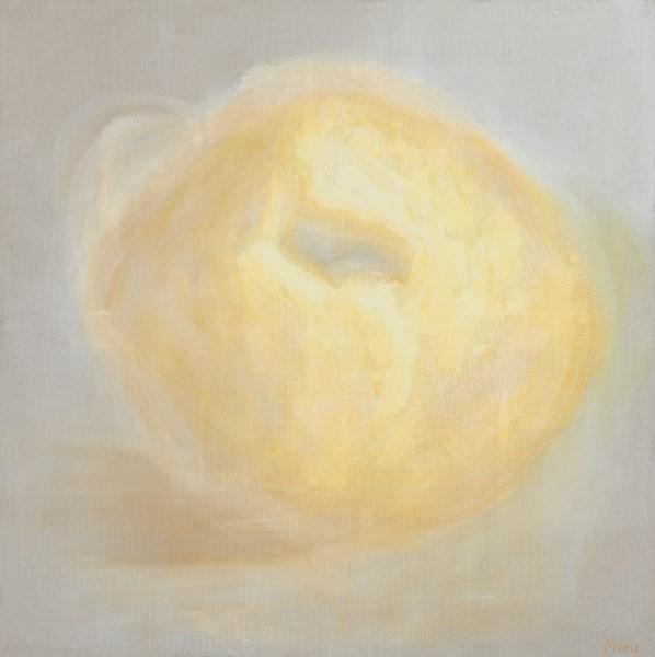 Coing n°10, pigments sur toile, 130 x 130 cm
