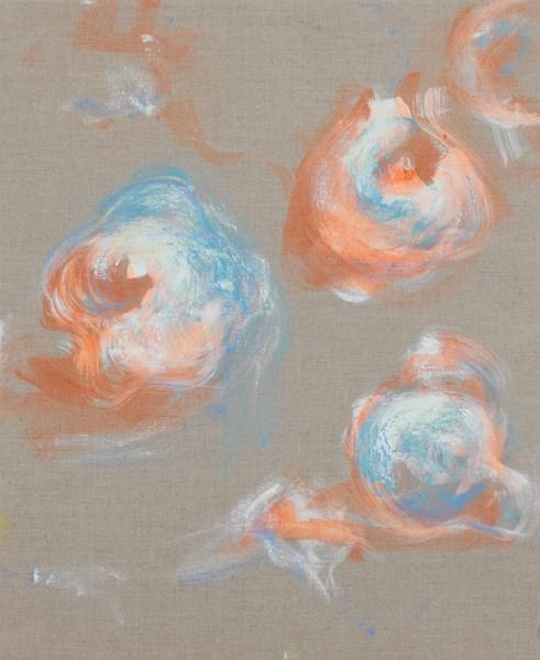 Coings n°12d, pigments sur toile, 50 x 61 cm