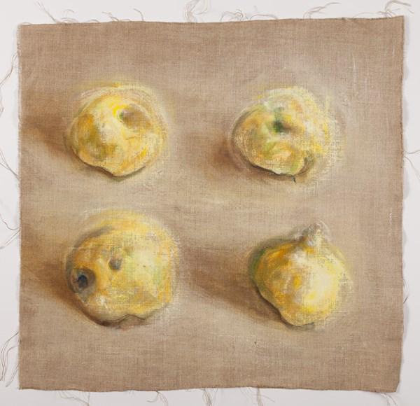 Quatre n°28, pigments sur lin, 50 x 50 cm