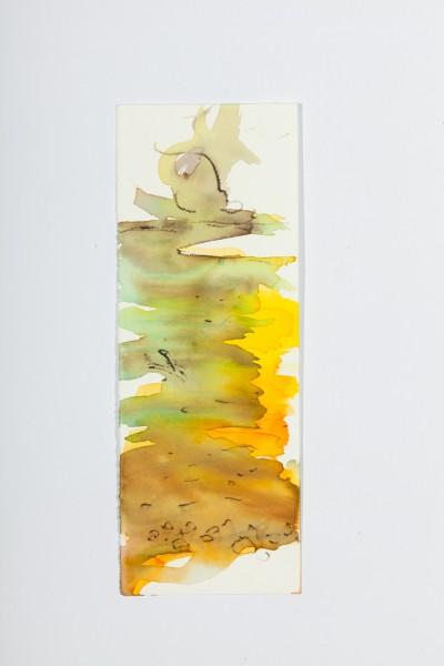 Rivière 2, 10,5 x 23 cm, encre couleur sur papier velin