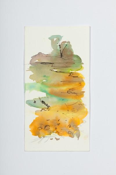Rivière 3, 10,5 x 23 cm, encre couleur sur papier velin