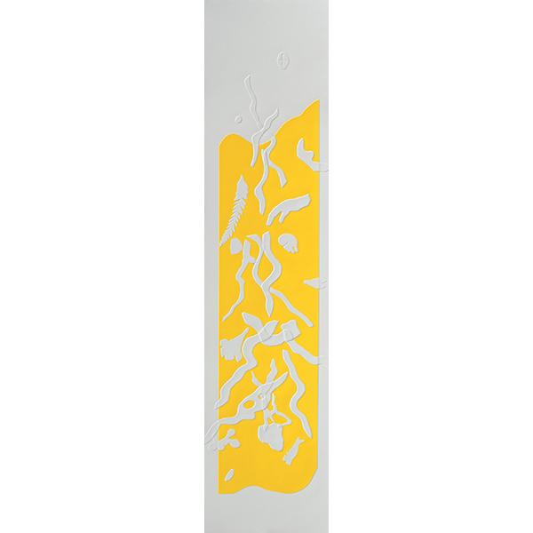 Barcelone-jaune 7, gaufrage, 26 x 107 cm