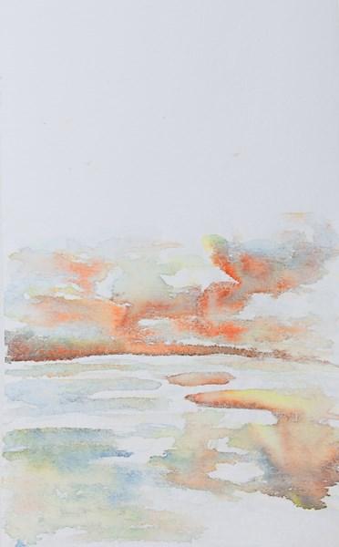 Loire1, encres sur textile, 45 x 90cm