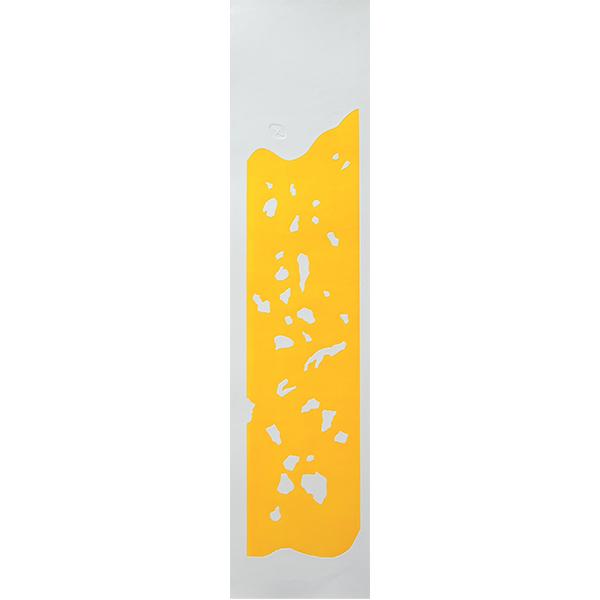 Rochers 5, gaufrage couleur, 26 x 107 cm