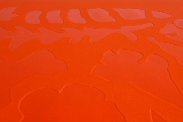 Barcelone-orange detail, embossing 78 x 106 cm