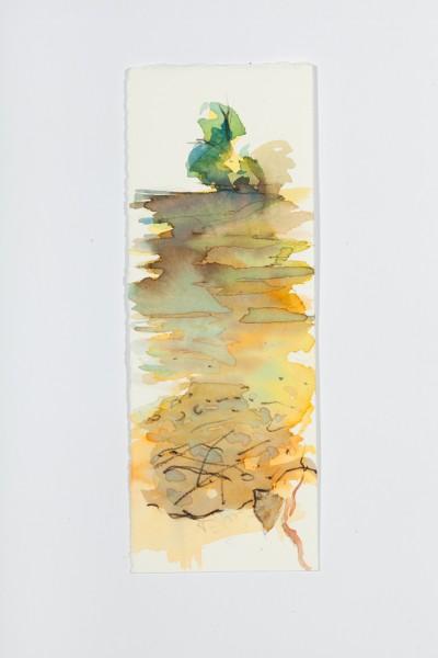 River 1, 10,5 x 23 cm, color ink on velin paper