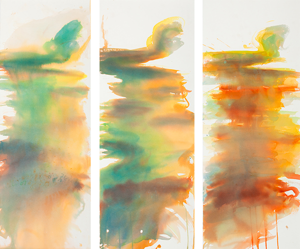 Big Rivers 1 2 3, ink on Arches paper, 28 x 76 cm each