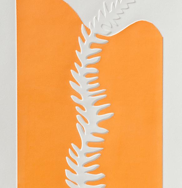 Fern 6 detail, embossing, 26 x 107 cm