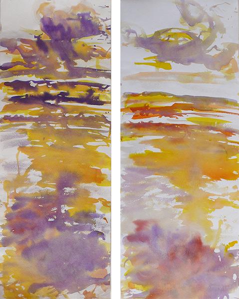 Marais, 3a and 3b, ink on arches paper, 28 x 76 cm each