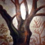 arbre, huile sur bois100x100