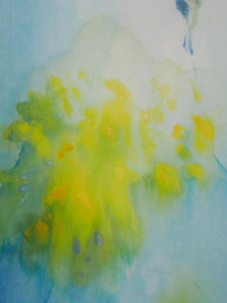 détail Tryptique jaune