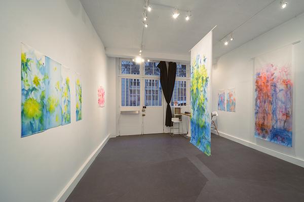 vue de l'exposition, jardins fluides, Abstract project, rue des immeubles industriels Paris 11